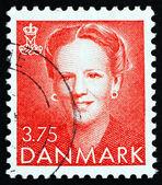 Briefmarke dänemark 1990 margrethe, königin von dänemark — Stockfoto