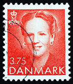 Estampilla dinamarca 1990 margrethe, reina de dinamarca — Foto de Stock