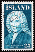 Postage stamp Iceland 1975 Arni Magnusson, Historian — Stock Photo