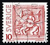 Postage stamp Sweden 1975 Horseman, Helmet Decoration — Stock Photo
