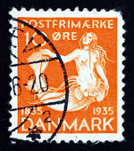 Postage stamp Denmark 1993 The Little Mermaid — Stock Photo