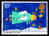 Postage stamp GB 1981 Angel, Christmas — Stock Photo