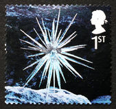 Postage stamp GB 2003 Icicle Star, Christmas — Stock Photo