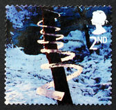 Postage stamp GB 2003 Ice Spiral, Christmas — Stock Photo