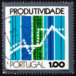 Postage stamp Portugal 1973 Graphs and Sequence Count — Stock Photo