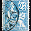 Postage stamp France 1900 The Rights of Man — Stock Photo