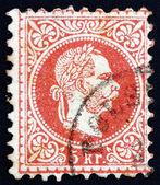 Postage stamp Austria 1872 Franz Josef, Emperor of Austria — Stock Photo