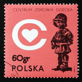 Postage stamp Poland 1972 The Little Soldier, by E. Piwowarski — Stock Photo