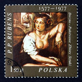 Postage stamp Poland 1977 Bathsheba, Painting by Rubens — Stock Photo