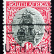 Postage stamp South Africa 1926 Jan van Riebeeck's Ship, Drommed — Stock Photo