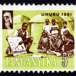 Postage stamp Tanganyik1961 Teacher Instructing Villagers — Stock Photo #25527281