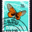 Postage stamp Tanzania 1973 Black-blotched Acraea, Butterfly — Stock Photo