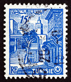 Postage stamp Tunisia 1954 Street Corner, Sidi Bou Said — Stock Photo