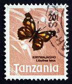 Postage stamp Tanzania 1973 African Snout Butterfly — Stock Photo
