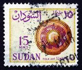 Selo capa de 1962 palha de sudão, arte popular — Foto Stock
