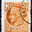 Postage stamp Greece 1900 Hera, Greek Mythology — Stok fotoğraf