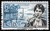 Postage stamp Spain 1968 Rosalia de Castro, Writer and Poet — Stock Photo