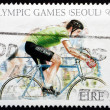 Postage stamp Ireland 2004 Cycling, Olympics Seoul 1988 — Stock Photo #25756421