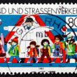 Postage stamp Germany 1983 Children and Road Safety — Stock Photo