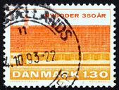 Postage stamp Denmark 1981 View of Nyboder, Copenhagen — Stock Photo