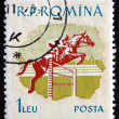Postage stamp Romani1959 Horse Race, Sport — Stock Photo #25937867