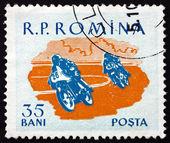 Postage stamp Romania 1959 Motorcycle Race, Sport — Stock Photo