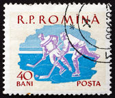 Postage stamp Romania 1959 Ice Hockey, Sport — Stock Photo