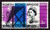 Postage stamp GB 1964 Forth Road Bridge — Stock Photo