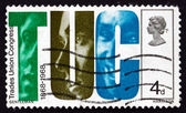 Postage stamp GB 1968 Letters TUC and Faces — Stock Photo