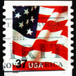 Postage stamp USA 2002 USA Flag — Stock Photo