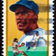 Postage stamp USA 1982 Jackie Robinson, Baseball Player - Stock Photo