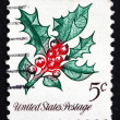 Royalty-Free Stock Photo: Postage stamp USA 1996 Holly, Christmas Decoration