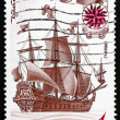 Postage stamp Russia 1971 Oriol, First Ship Built in Eddinovo, 1 — Stock Photo