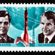 Postage stamp Russia 1974 Cosmonauts Lazarev and Makarov — Stock Photo