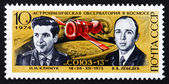 Postage stamp Russia 1974 Cosmonauts Klimuk and Lebedev — Stock Photo
