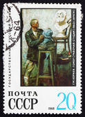 Postage stamp Russia 1968 Sculptor with a Bust of Homer — Stock Photo