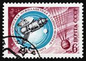Estampilla rusia 1972 venera 8 y paracaídas — Foto de Stock