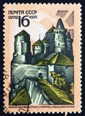 Selo postal fortaleza de rússia 1972, kam-podolski, ucrânia — Fotografia Stock