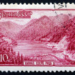 Postage stamp Russia 1959 Lake Ritza, Caucasus, Abkhazia — Stock Photo