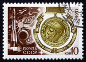 Znaczek pocztowy Rosji 1971 Jurij gagarin medal — Zdjęcie stockowe