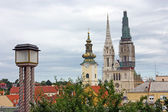 Towers of Zagreb, Croatia — Stock Photo