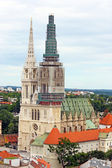 Cathedral in Zagreb, Croatia — Stock Photo