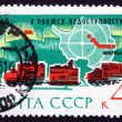 Postage stamp Russia 1963 Map of Antarctica — Foto de Stock