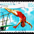 Postage stamp Australia 1991 Diving, Australian Sport — Stock Photo