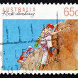 Postage stamp Australia 1992 Rock Climbing, Australian Sport — Stock Photo #27127081
