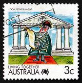 Gouvernement local australie 1988 timbre-poste, vivre ensemble — Photo