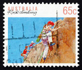 Postage stamp Australia 1992 Rock Climbing, Australian Sport — Stock Photo