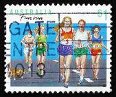 Postage stamp Australia 1990 Running, Australian Sport — Stockfoto