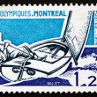 Postage stamp France 1976 shows Sailing, 21st Olympic Games — Stock Photo