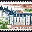 Postage stamp France 1975 Chateau de Rochechouart, French Castle — Stock Photo